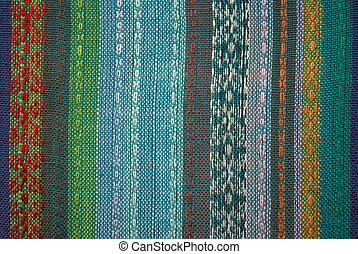 dyed fabric texture, background with colored threads