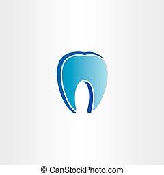 Símbolo, odontólogo, abstratos, dente