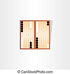 backgammon tournament icon design - backgammon tournament...