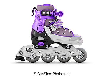 Illustration roller skate on white - 3d illustration roller...