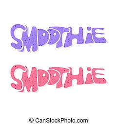 SmoothieVector61 - Set of words-Smoothie in graffiti style...