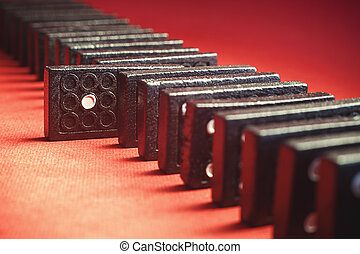 Chosen One - Conceptual composition of dominoes with chosen...