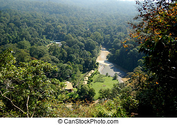 Danum Valley Landscape Sabah - Aeriel view of the Danum...