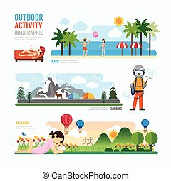parks and outdoor activityTemplate Design Infographic....