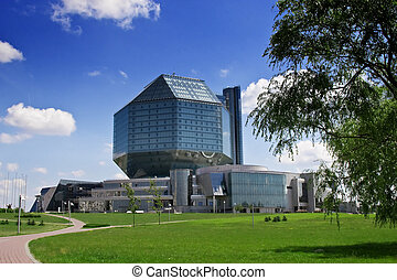 National library - New national library building in Minsk,...