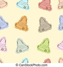 Seamless color hand bells - Seamless textures with school...