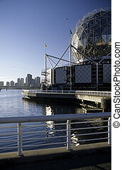 Science World- Vancouver, Canada - Gleaming geodesic dome of...
