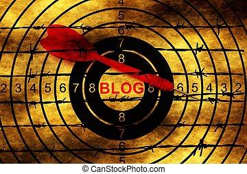 Blog target on barbwire