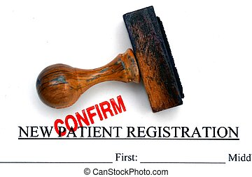 Patient registration form