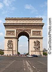 Arc de Triomphe, Paris - Arc de Triomphe from Avenue des...