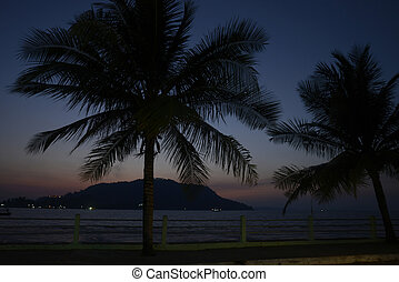 ASIA MYANMAR MYEIK ANDAMAN SEA - the sunset at the Stand...