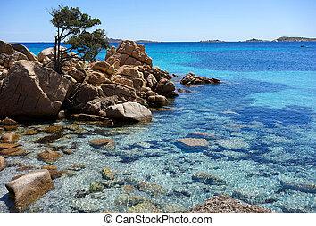Quite cove on the Costa Smeralda in Sardinia