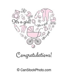 Set of items for a newborn girl - A set of items for newborn...