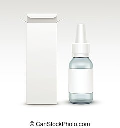 Vector Blank Medicine Medical Glass Spray Bottle