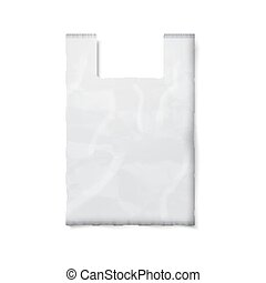 Blank plastic bag with place for your design and branding...