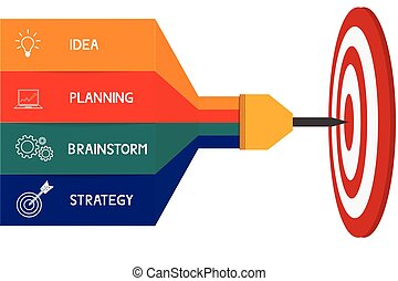 Dart target success business concept infographics Can be...