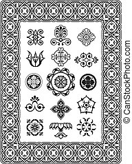 Ornamental vector design elements monograms - Vector...