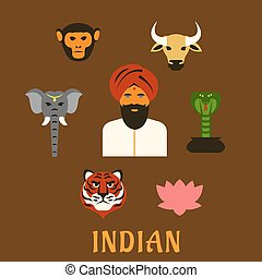 Indian animals and national symbols