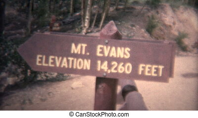 8mm Vintage 1966 Mt Evans - Original vintage 8mm home movie...