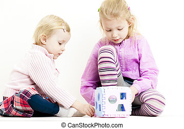 playing two little girls