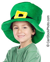 Child whit hat of Saint Patricks Day celebration