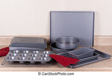 Bakeware Set - New bakeware set with muffin, cake and cookie...