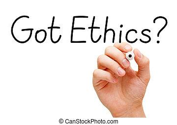 obtenido, éticas, negro, marcador,