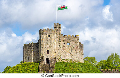 Norman Keep of Cardiff Castle - Wales