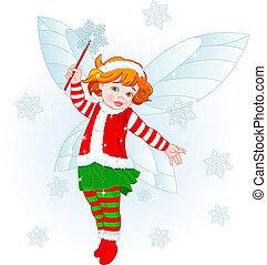 Christmas baby fairy