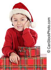Adorable boy in christmas - Photo of an adorable boy in...