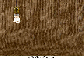 Hanging CFL Bulb Background - Single hanging CFL (compact...