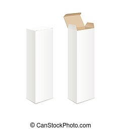 White Blank Packaging Package Pack Toothpaste Box - Vector...