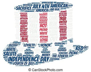 Tag cloud of 4th of july - hat