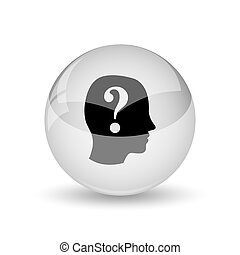 Quiz icon Internet button on white background