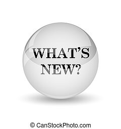 Whats new icon Internet button on white background