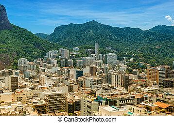 Aerial view Rio de Janeiro Brasil famous tourism travel...