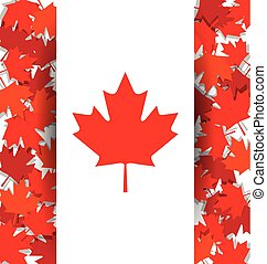 Maple Leaf background for the national day of Canada