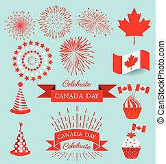 Set design elements for the national day of Canada