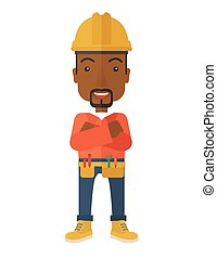 African-american Constructions worker - An african-american...