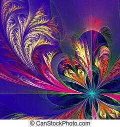 azul, patrón, -, diagonal, Colección, multicolor,...