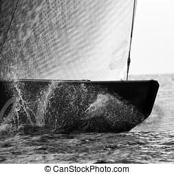 Sailing - Sport - Sailboat during a match racing