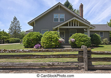 Country home in rural Oregon.