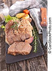 grilled fillet meat