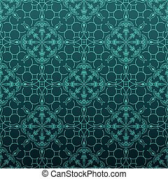 Elegant turquois floral background - Elegant turquoise green...