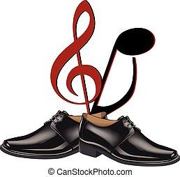 black shoes dance