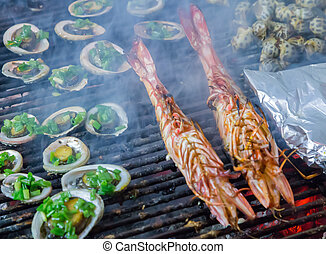 shellfish Grill cooking seafood