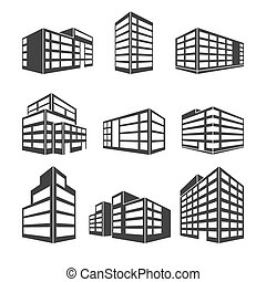 Dimensional building as a design web icons