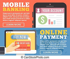 Moblie banking, online payment