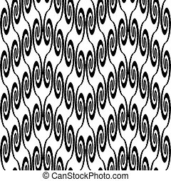 Design seamless monochrome zigzag decorative pattern