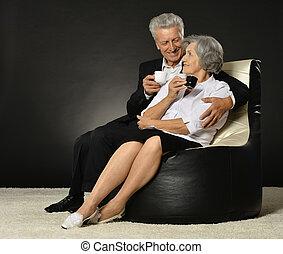 Portrait of a senior couple - Portrait of a senior couple...